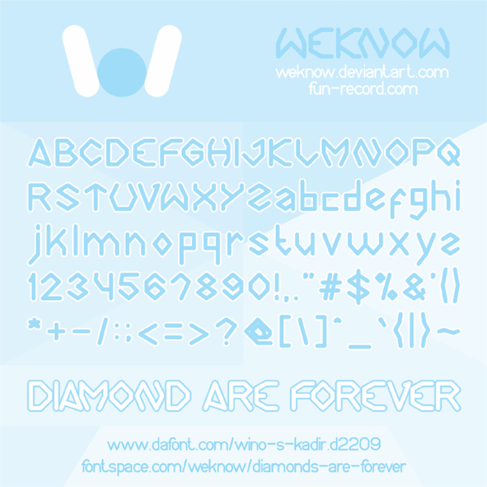 Diamonds are forever Font poster