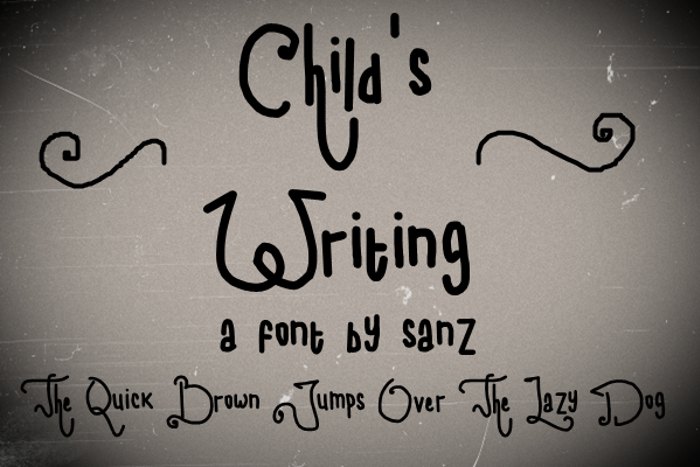 child writing Font poster