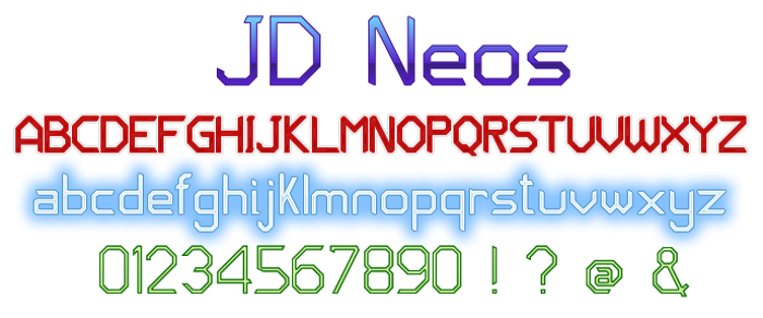 JD Neos Font poster