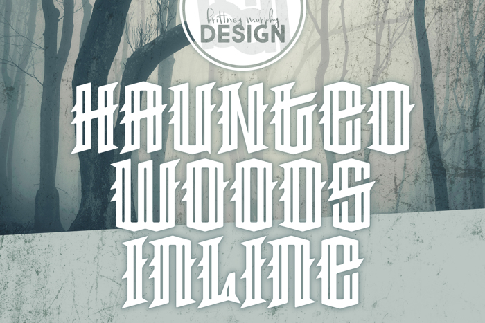 Haunted Woods Inline Font poster