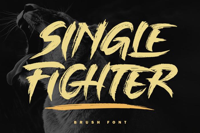 Single Fighter Font Subectype Orenari Fontspace