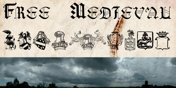 Free Medieval Font poster