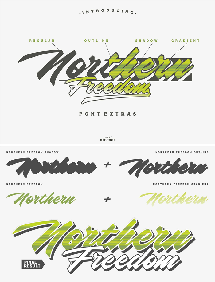 Northern Freedom Font poster