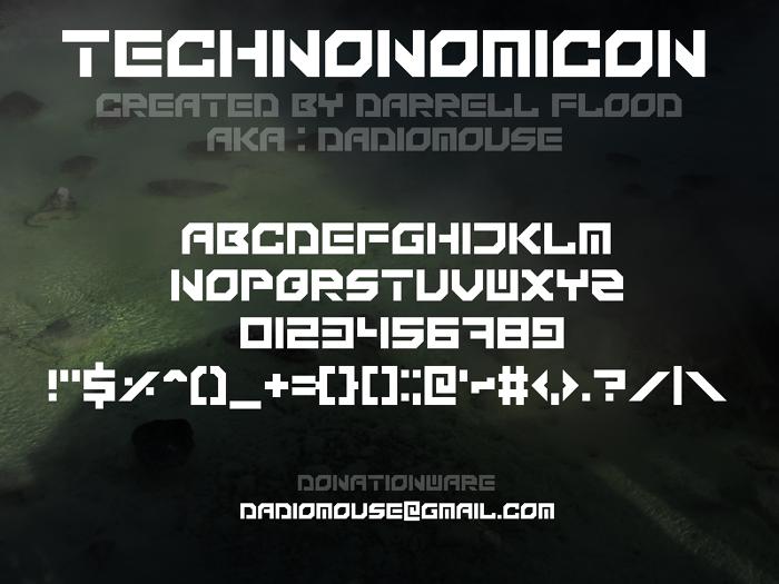 Technonomicon Font poster