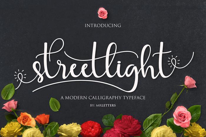 Streetlight Font poster