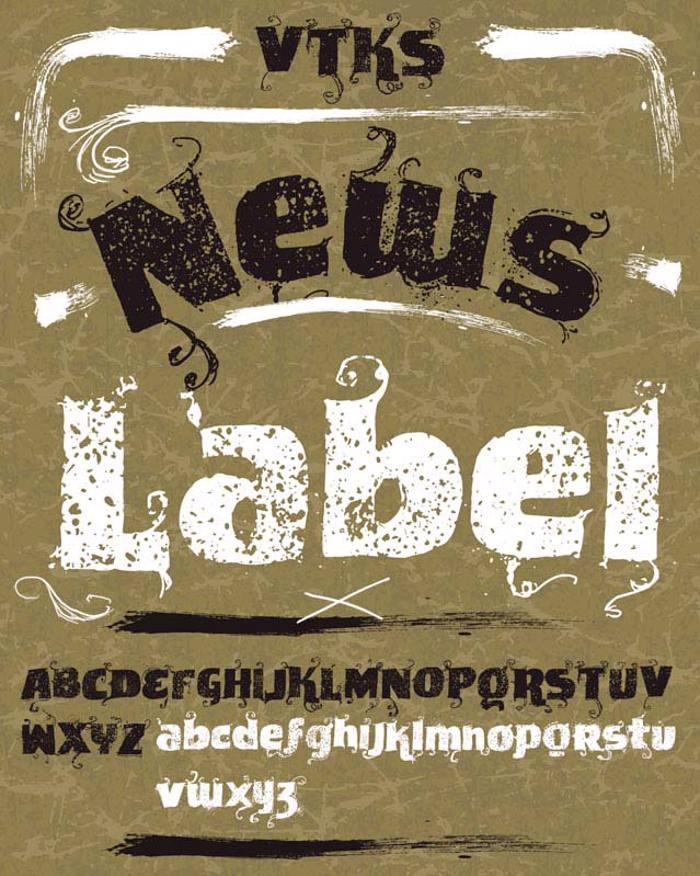 VTKS News Label Font poster