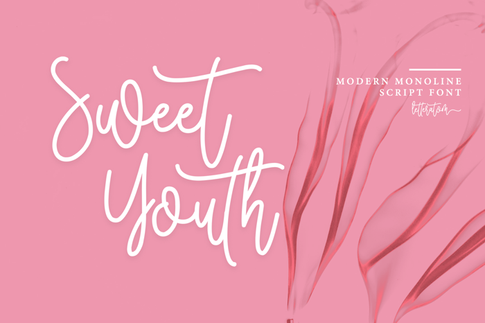 Sweet Youth Font poster