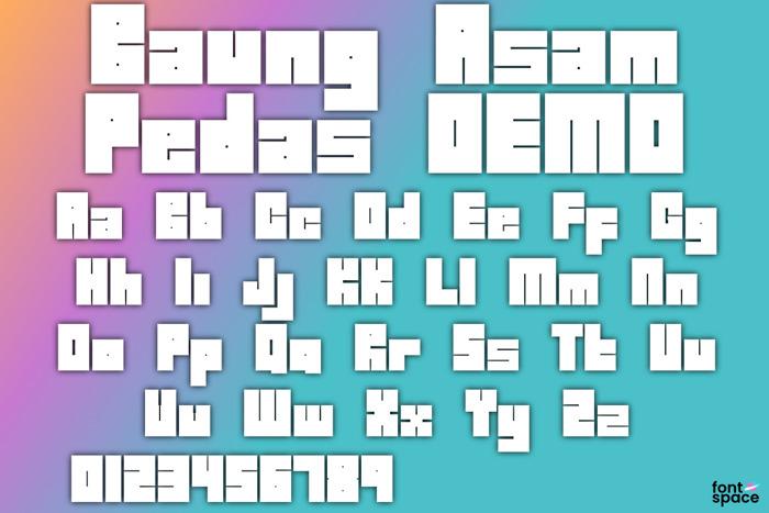 Baung Asam Pedas Font poster