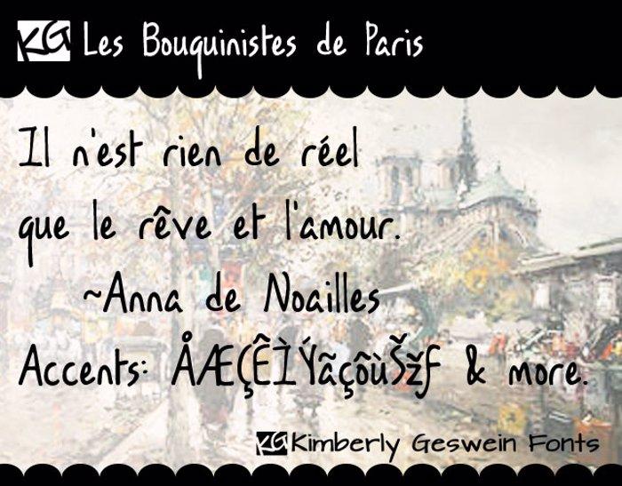 KG Les Bouquinistes de Paris Font poster