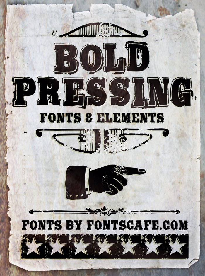 Bold Pressing H3 demo Font poster