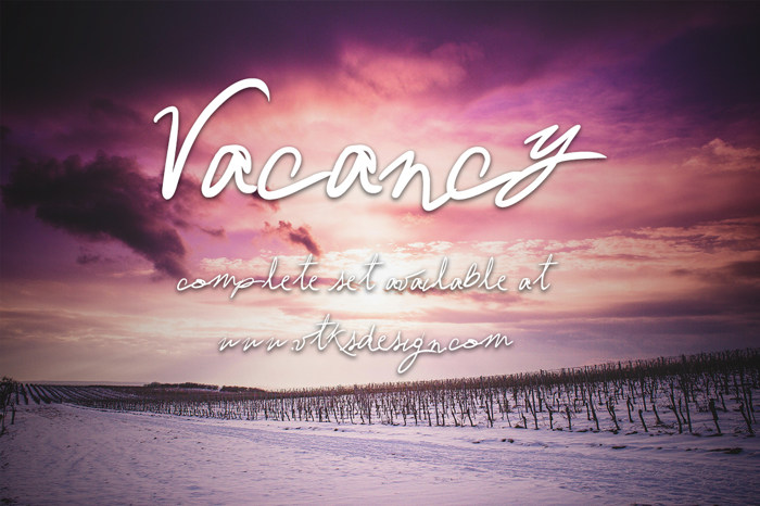 Vtks Vacancy Font poster