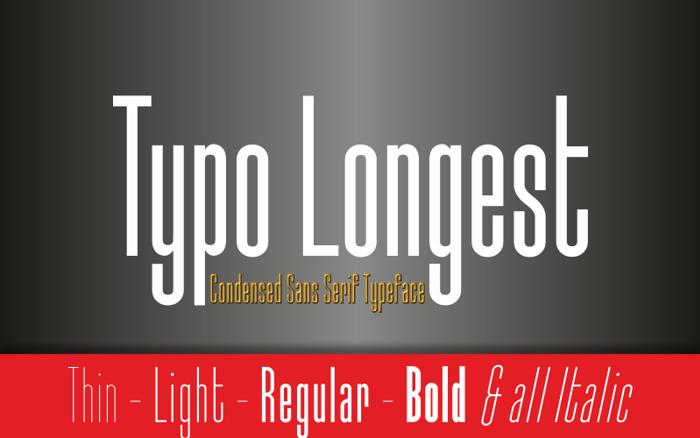 Typo Longest Font poster
