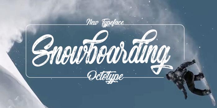 Snowboarding Font poster