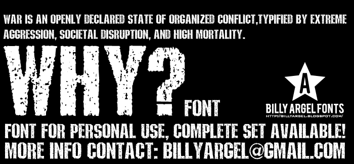 WHY Font poster