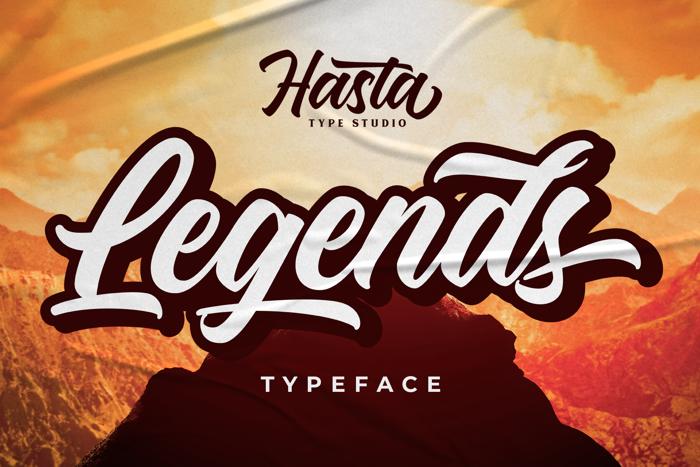 Legends Font poster