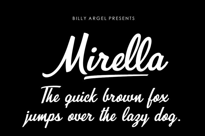 Mirella Font poster