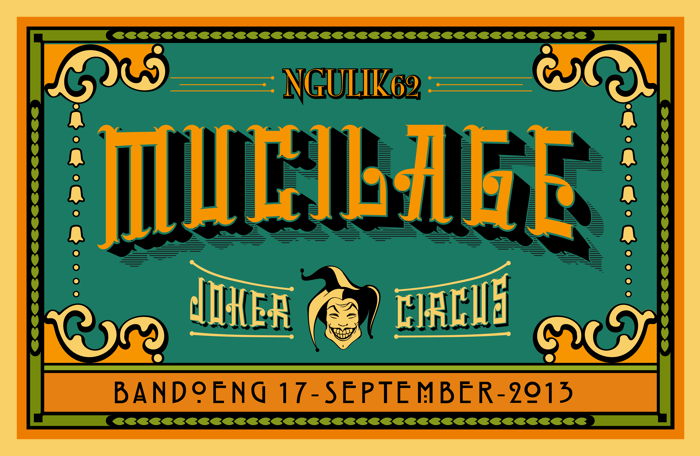 mucilage type Font poster