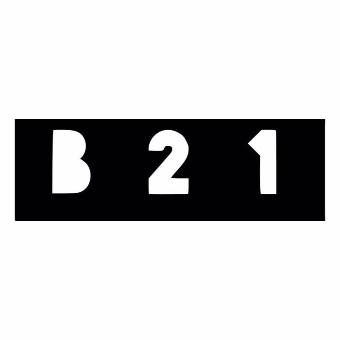 B21 Font poster
