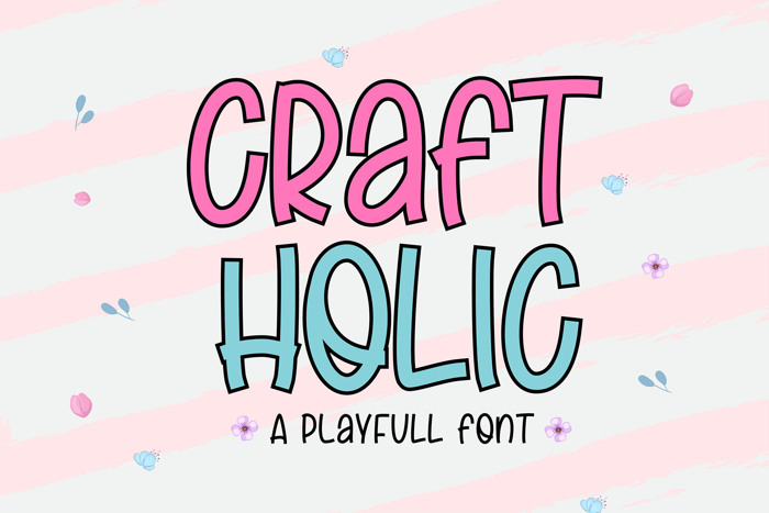 Craft Holic Font poster