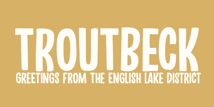 Troutbeck DEMO Font poster