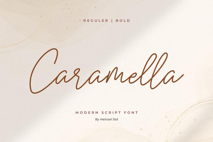Caramella Font poster