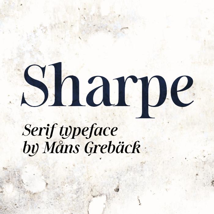 Sharpe Font poster