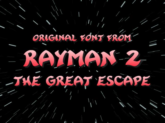 Rayman 2 Font poster