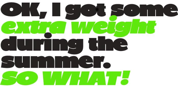 BP Diet Font poster