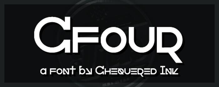 Cfour Font poster