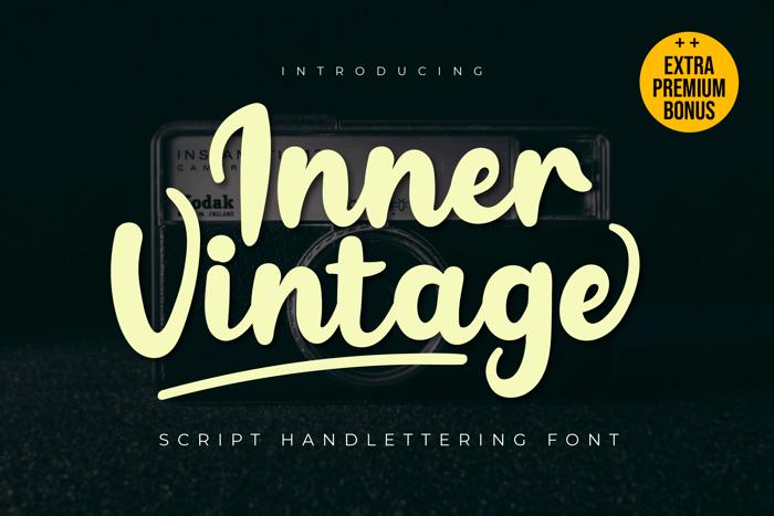 Inner Vintage Font poster