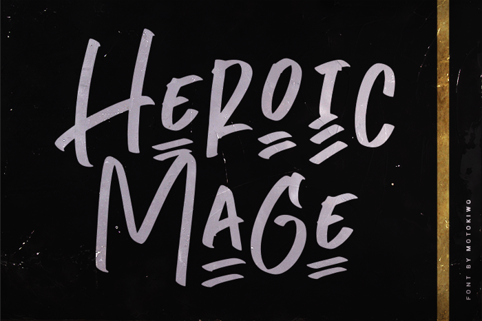 Heroic Mage Font poster