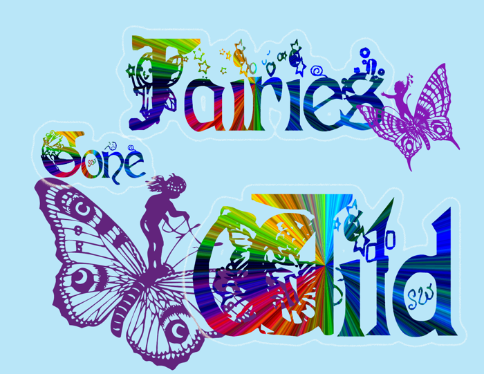 Fairies Gone Wild Font poster