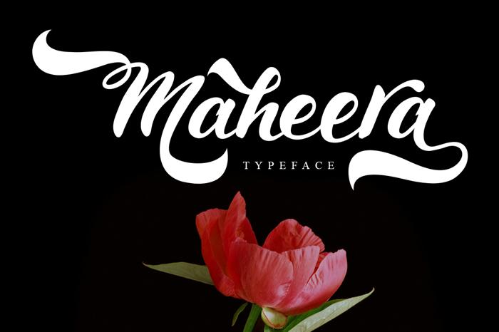 Maheera Font poster