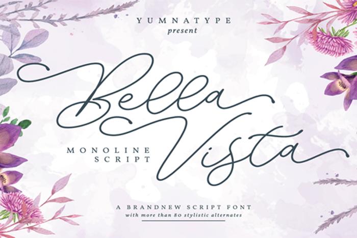 Bella Vista Font poster