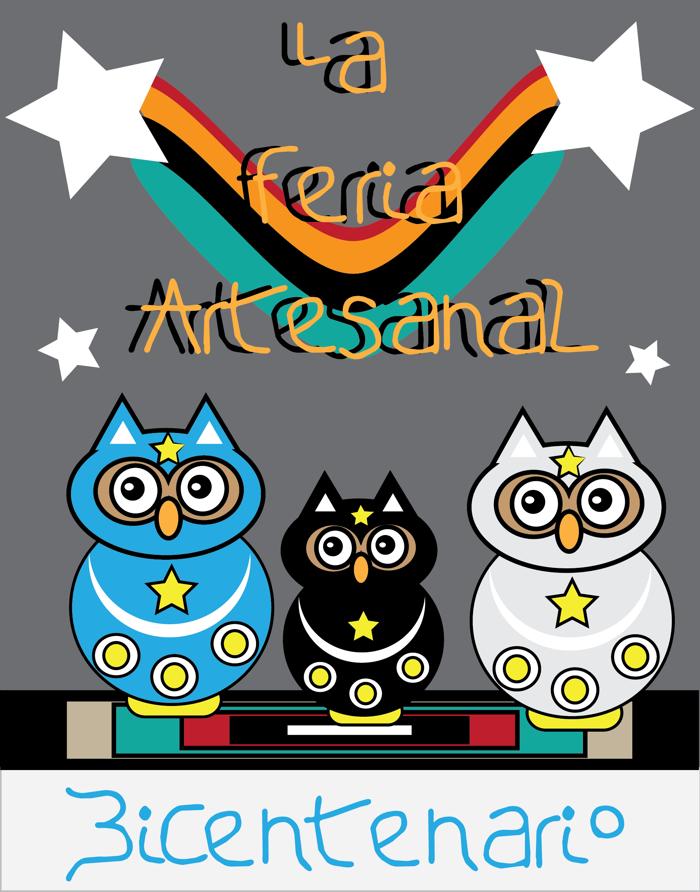 La Feria Artesanal Font poster