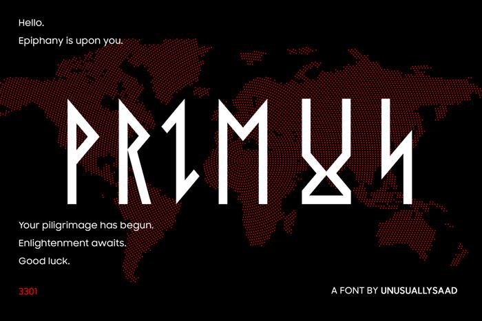 Primus Font poster
