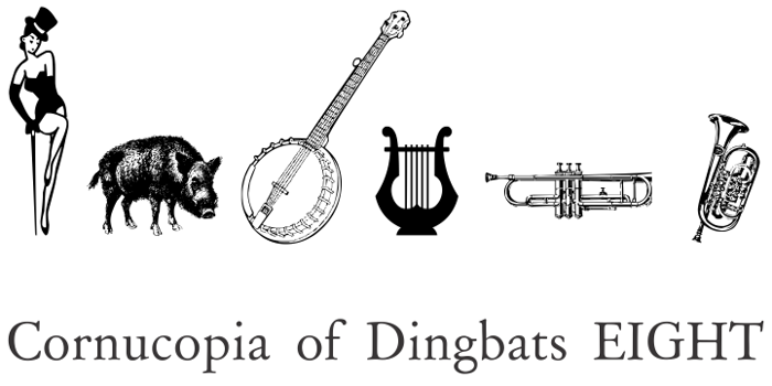 Cornucopia of Dingbats Eight Font poster