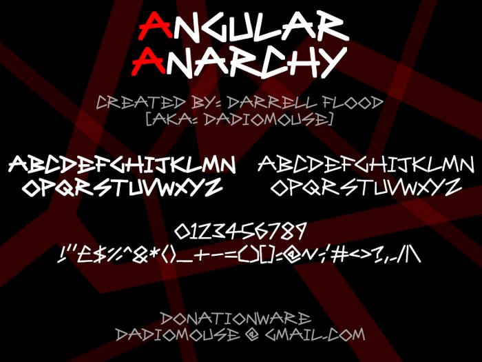 Angular Anarchy Font poster
