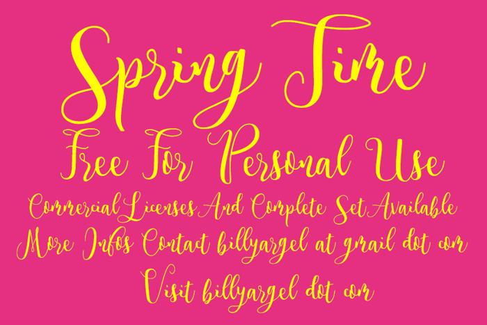 Spring Time Font poster