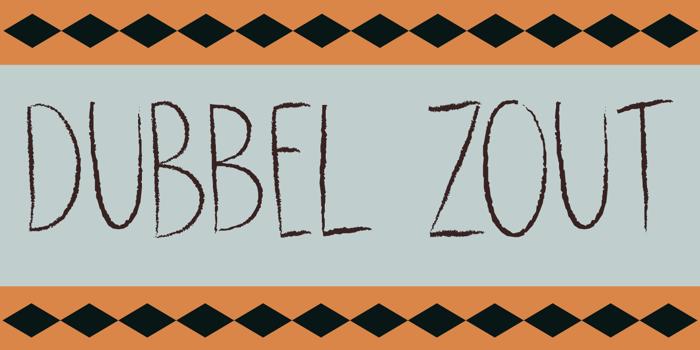 DK Dubbel Zout Font poster