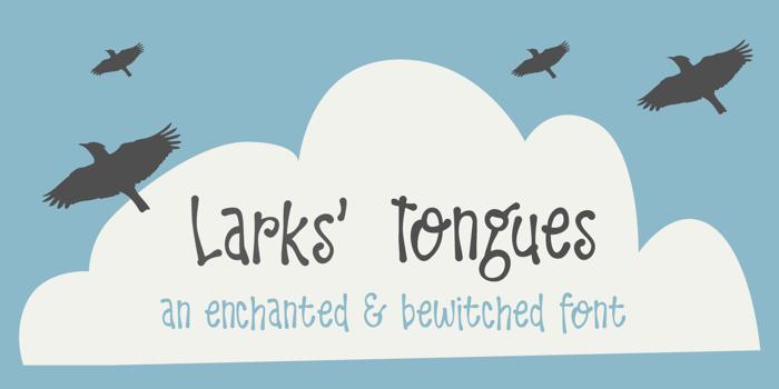 DK Larks Tongues Font poster