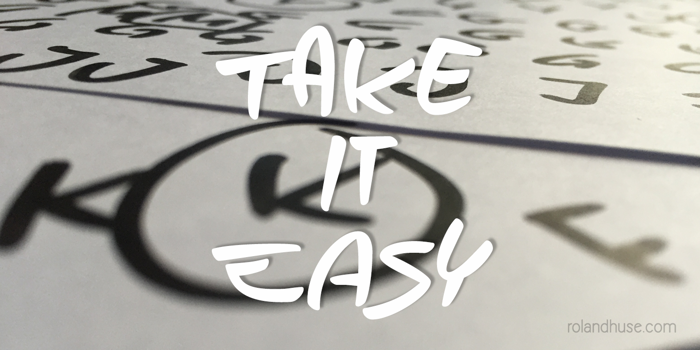 Take it Easy Font poster