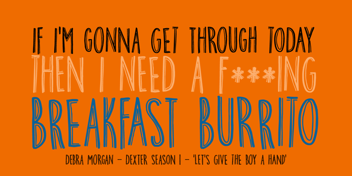 DK Breakfast Burrito Font