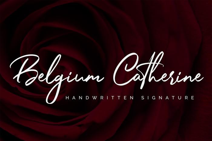Belgium Catherine Font poster