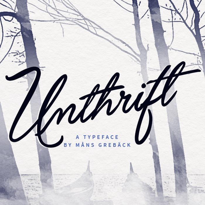 Unthrift Font poster