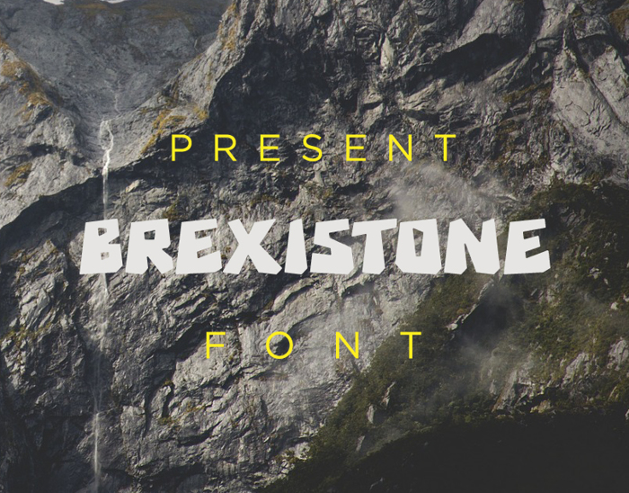 Brexi Stone Font poster