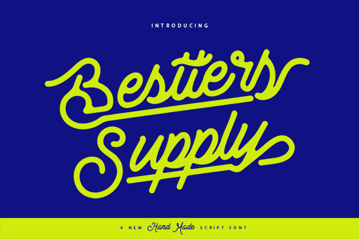 Bestters Supply Font poster