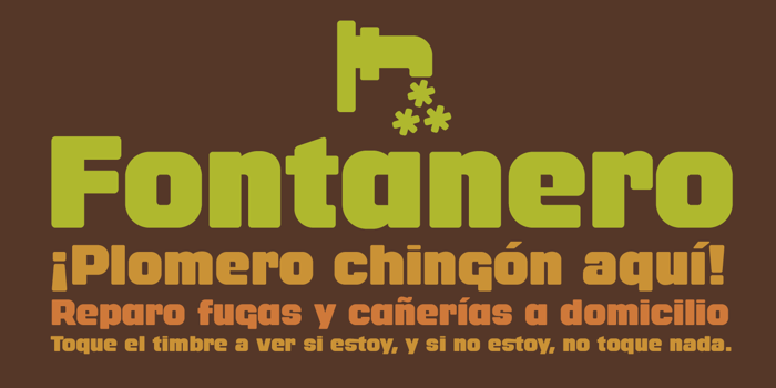 Fontanero Font poster