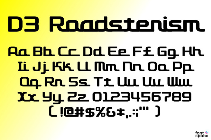 D3 Roadsterism Font poster