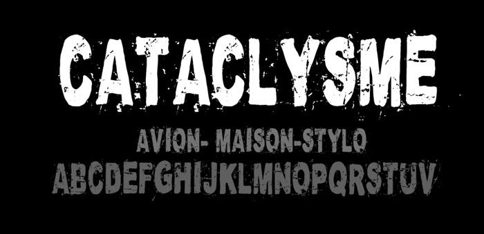 Cataclysme Regular Font poster